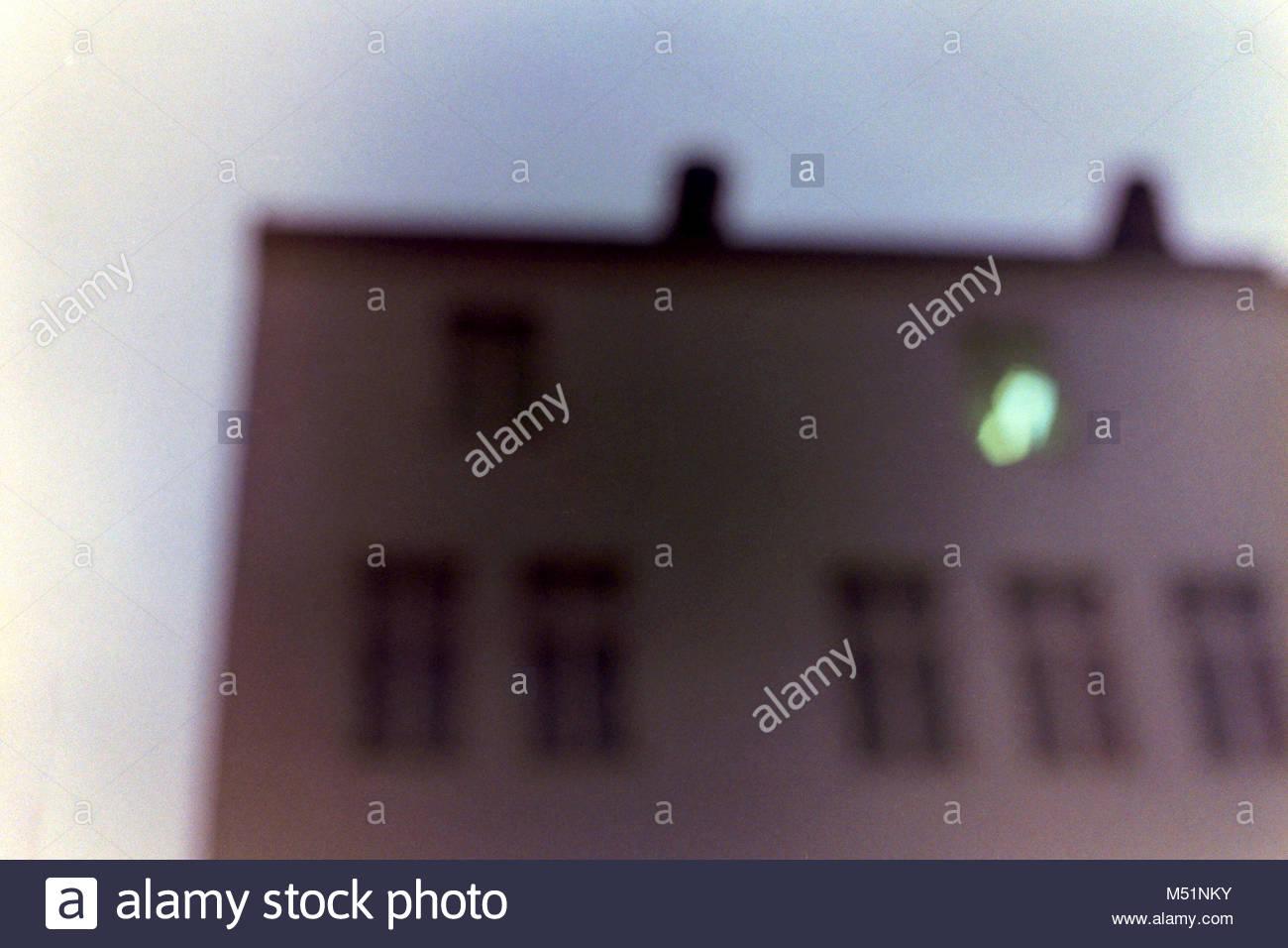 Der Blick aus meinem Fenster Stockbild