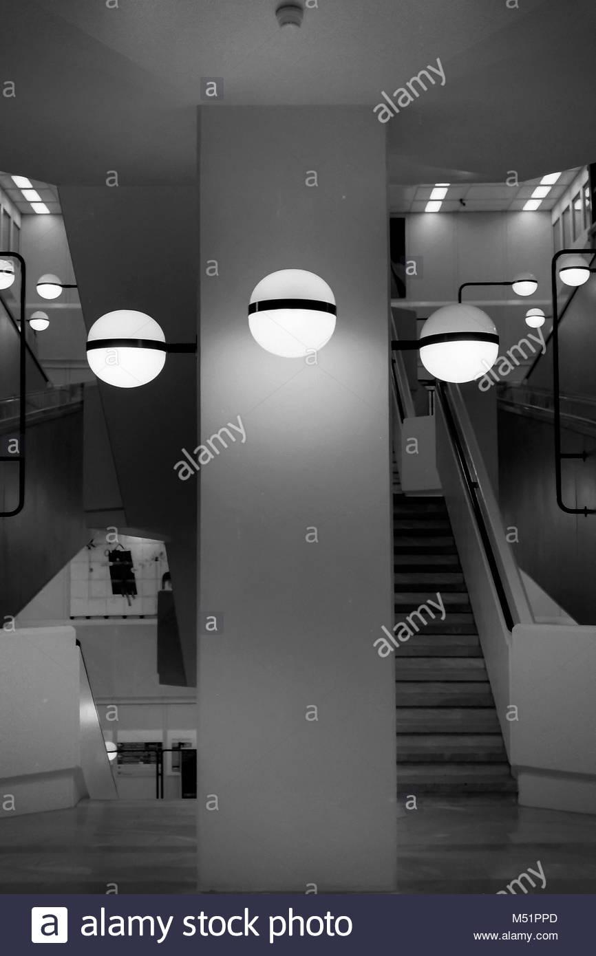 Eschers Treppenhaus Stockbild