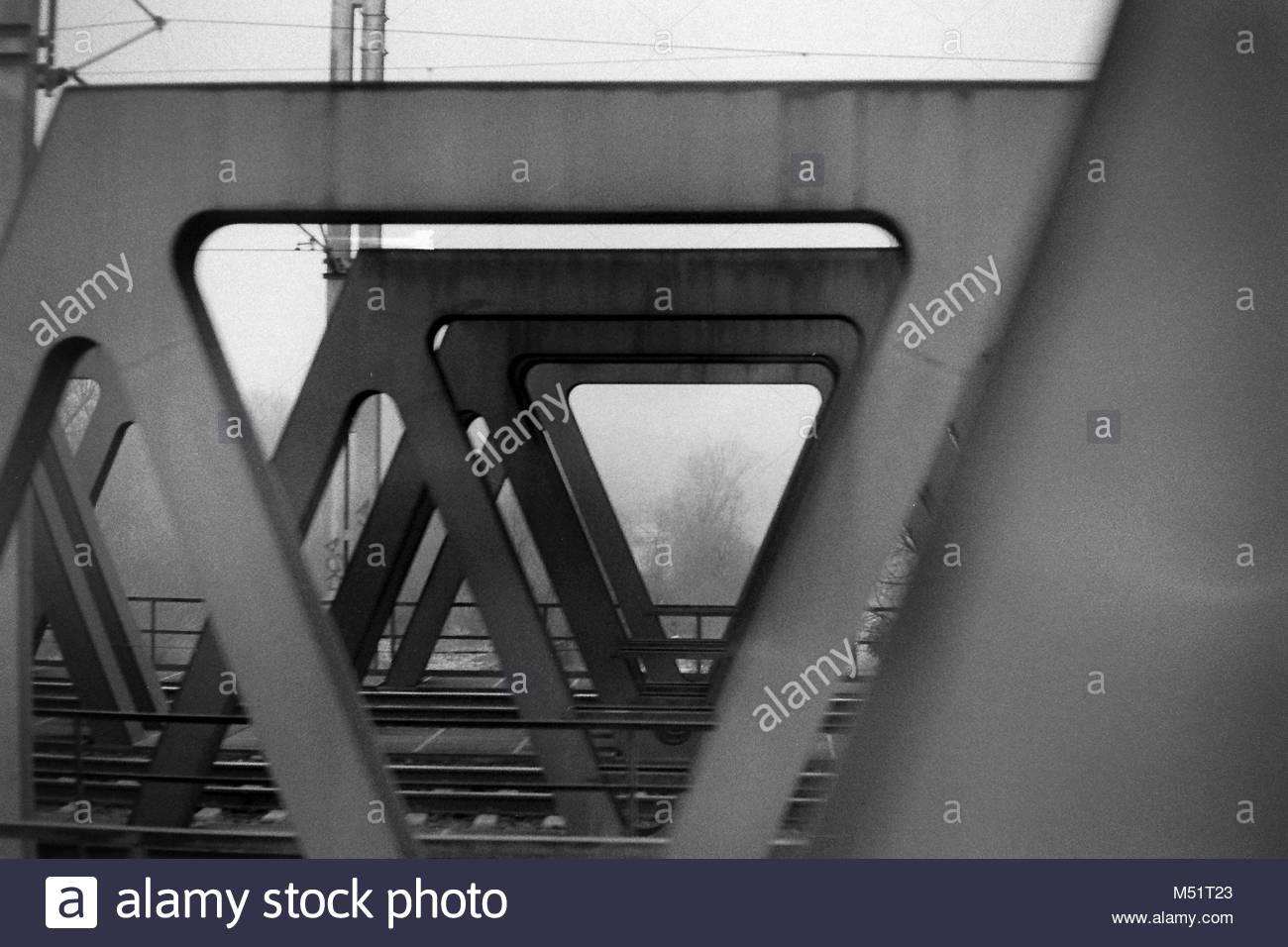 Zug Fenster geschossen Stockbild