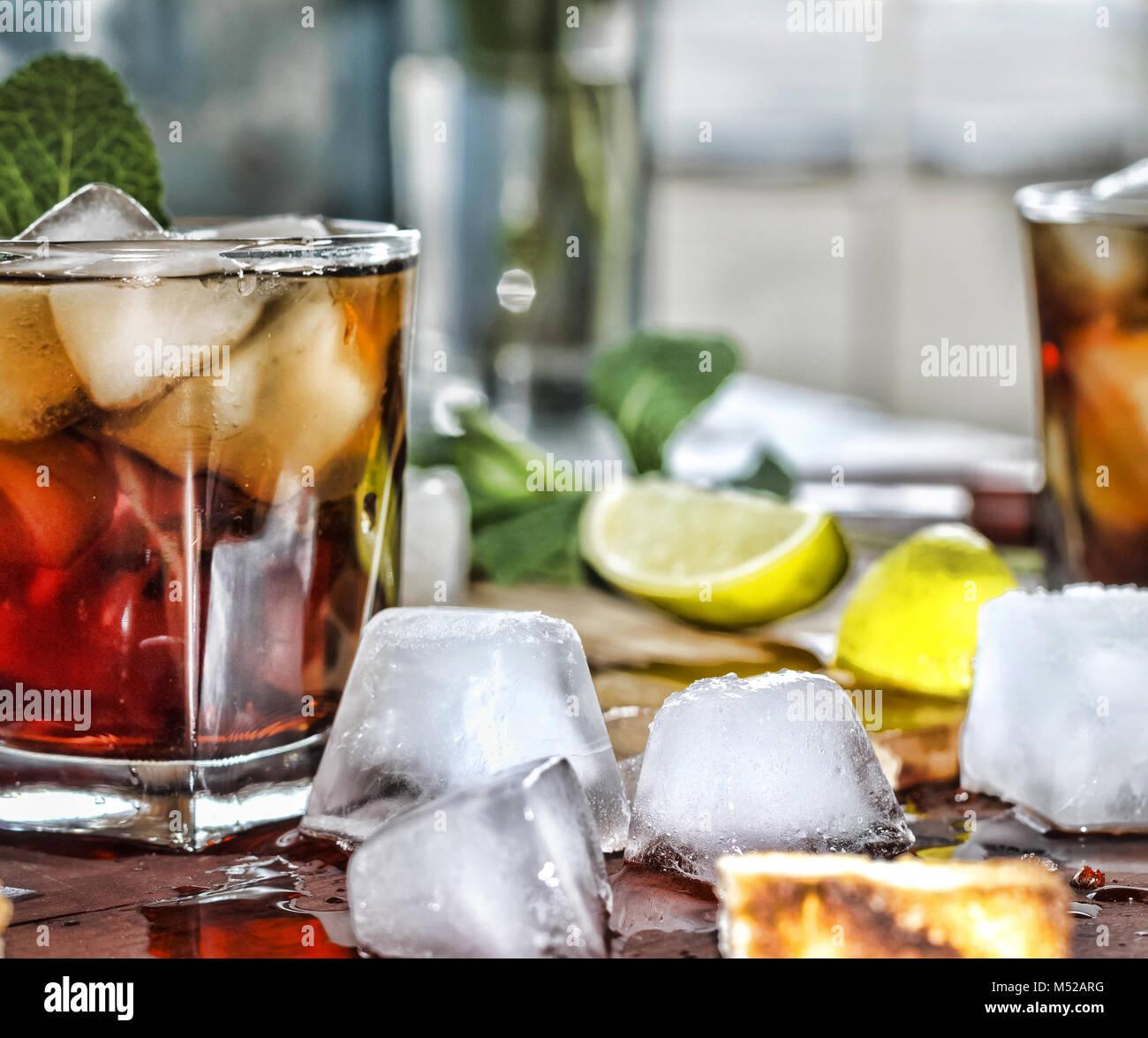Rum Erfrischung alkoholisches Getränk Stockfoto