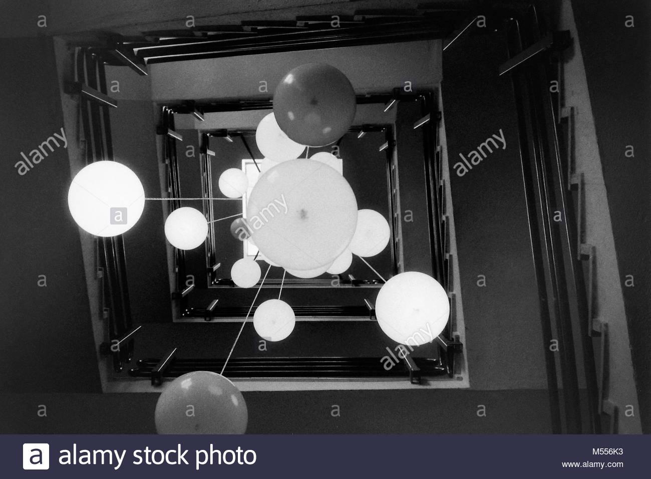 Lampen in der Charite Stockbild