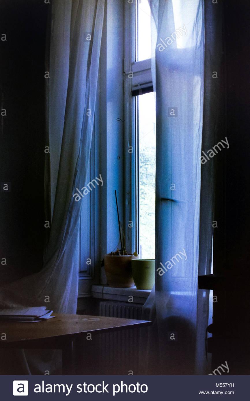 Moody Fenster Stockbild