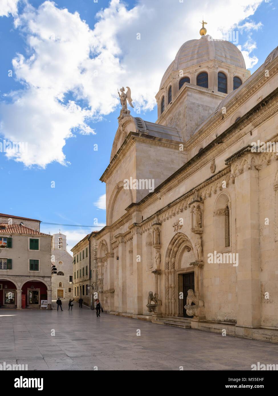 Kathedrale des Hl. Jakobus, Sibenik, Kroatien Stockbild