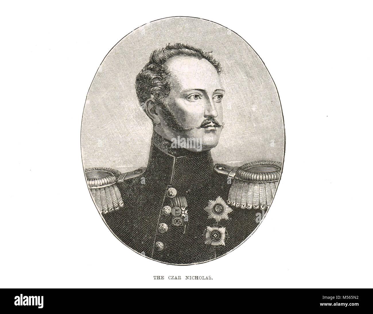 Zar Nikolaus I. von Russland, 1796-1855, Kaiser von Rußland, regierte 1825-1855, König von Polen und Großfürst Stockbild
