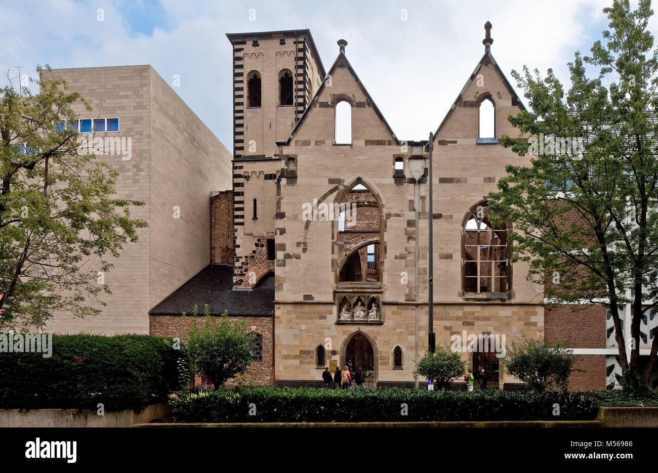 Köln, Alt St. Alban. Westansicht Stockbild