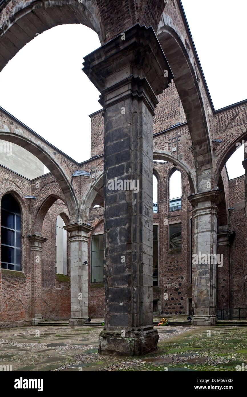 Köln, Alt St. Alban und südliches Seitenschiff Mittelschiff Stockbild