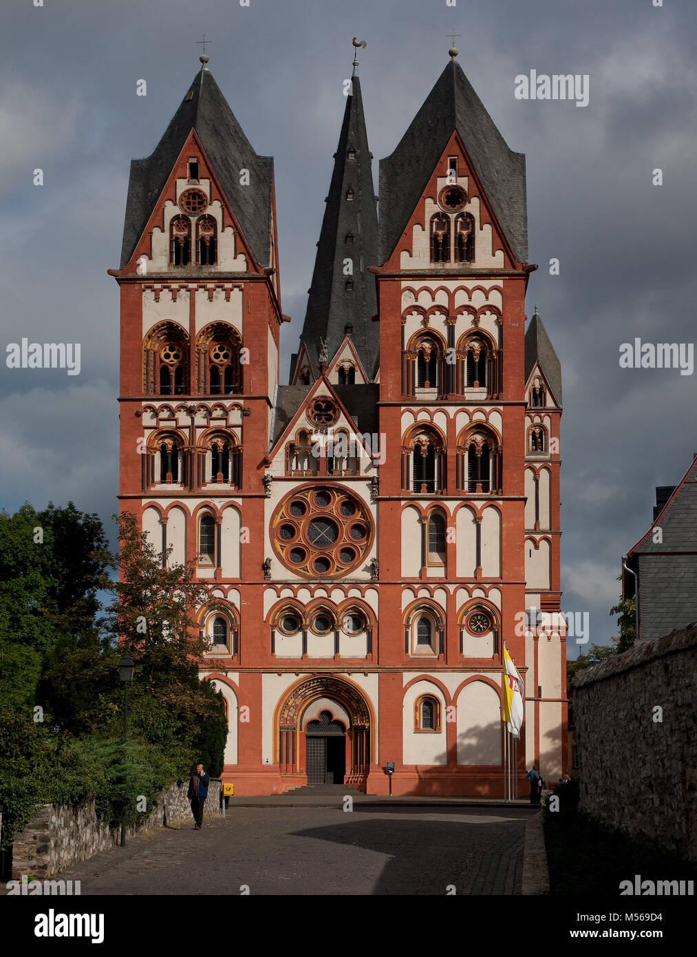 Limburg ein der Lahn, Dom, Westfassade Stockbild