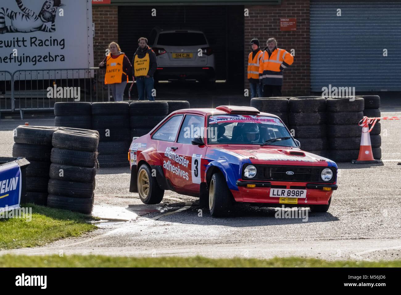 Snetterton Rally Stadien, Februar 2018 Stockbild
