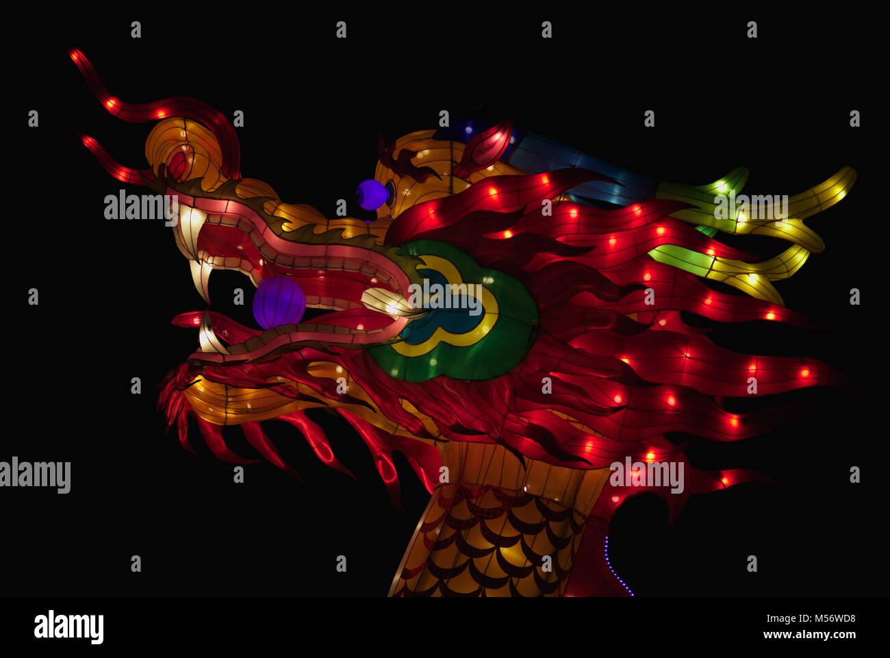 Chinesische Licht Installation Stockbild