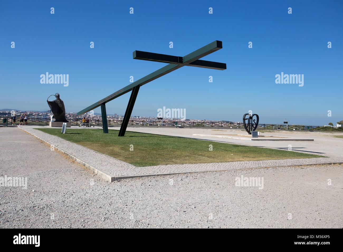 Lissabon Portugal 21. AUGUST 2016 - die Cristo Rei Monument, das von Jesus Christus in Lissabon, Portugal, Europa Stockbild