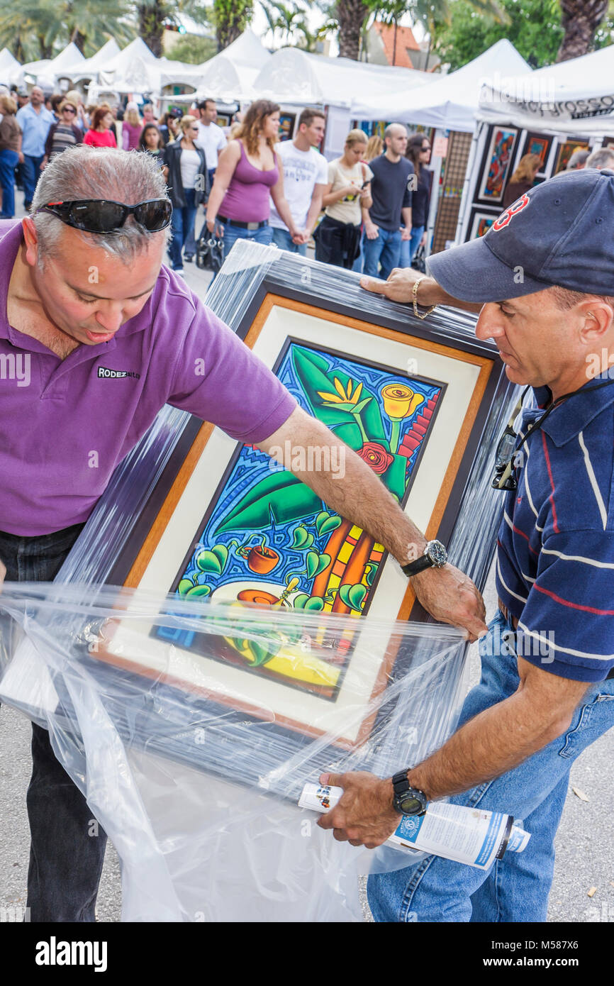 Coral Gables Framed Art Buyer Stockfotos & Coral Gables Framed Art ...