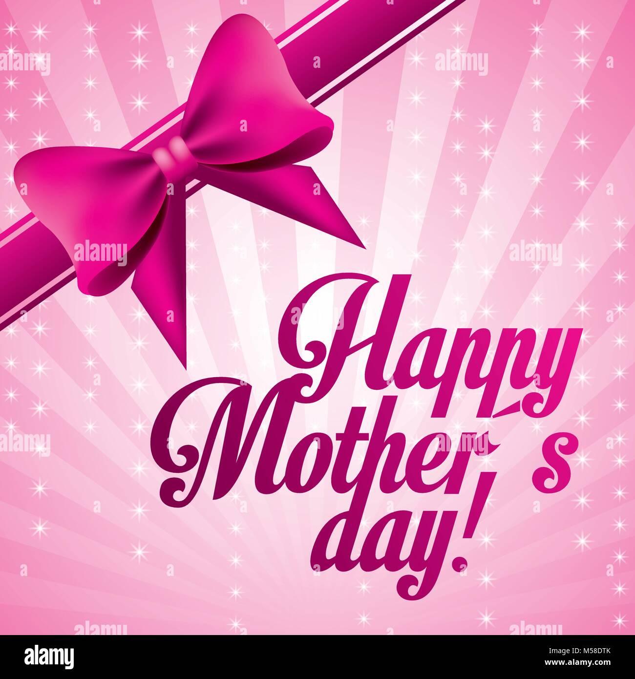 Rosa Schriftzug Happy Muttertag Bug Deko Kugeln Schon Verschwommen
