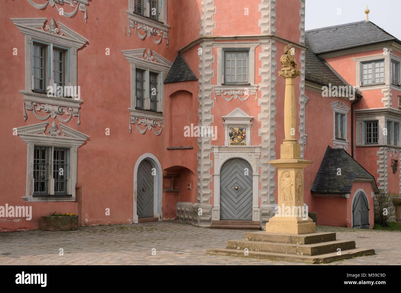 Bischofshof, Ladenburg, Baden-Württemberg, Deutschland Stockbild
