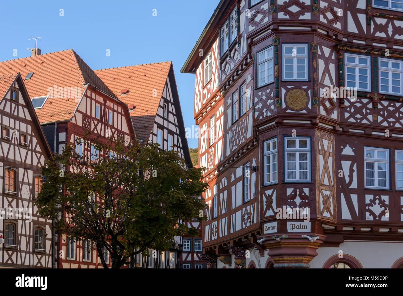 Palm'schen Haus-Mosbach, Odenwald, Baden-Württemberg, Deutschland Stockbild