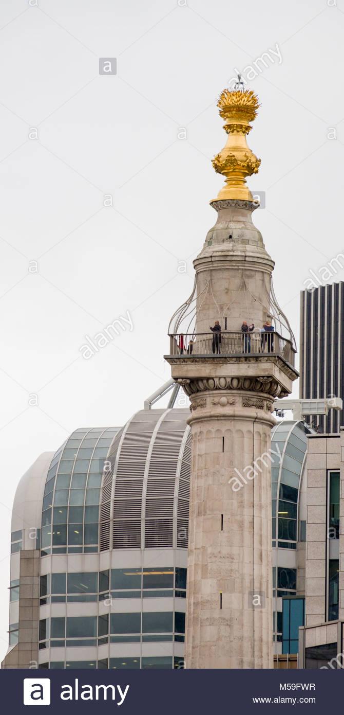 Denkmal für den großen Brand von London, City of London, London, England, Vereinigtes Königreich Stockbild