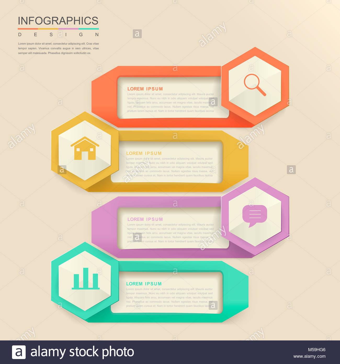 Abstract Hexagon Infographic Design Icons Stockfotos & Abstract ...