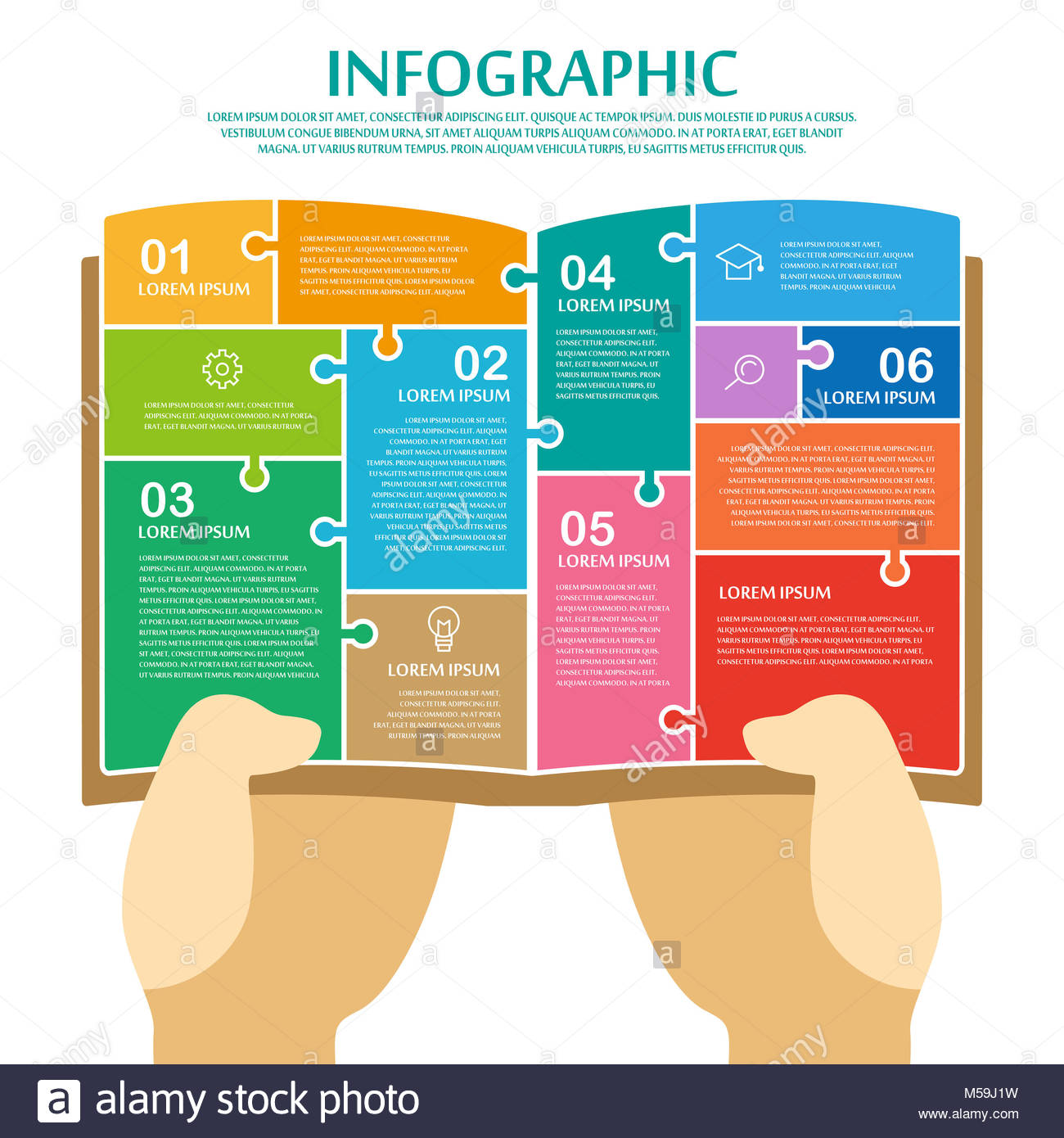 Education Infographic Design Elements Book Stockfotos & Education ...