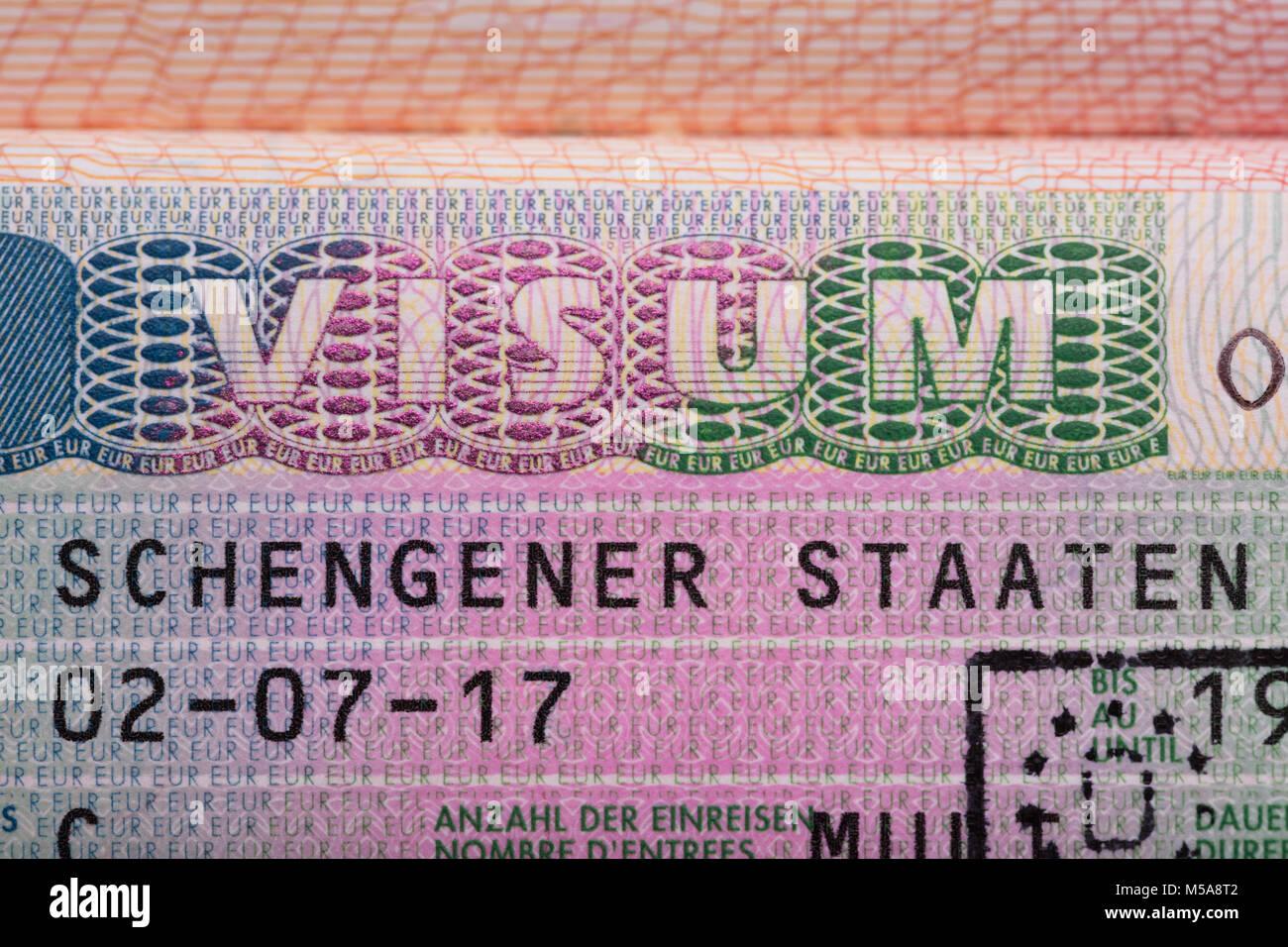 Schengen deutschland visum Visas