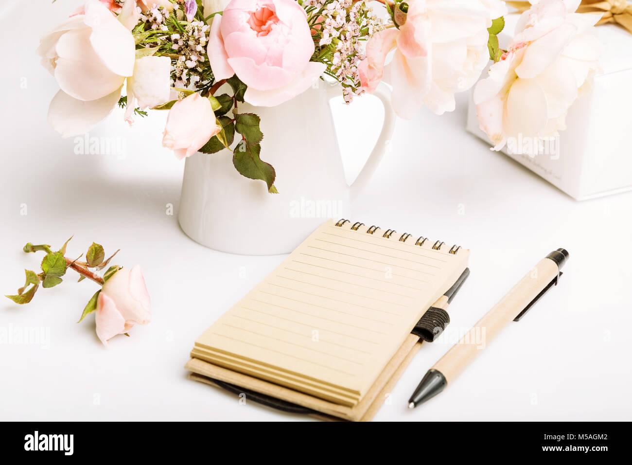 Holiday Card Schone Frische Rosa English Rose Geschenk Notizbuch