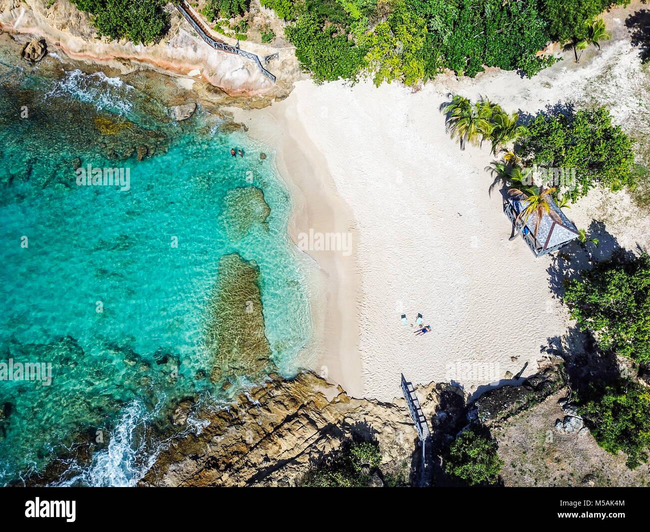 Galley Bay Beach, Antigua Stockbild