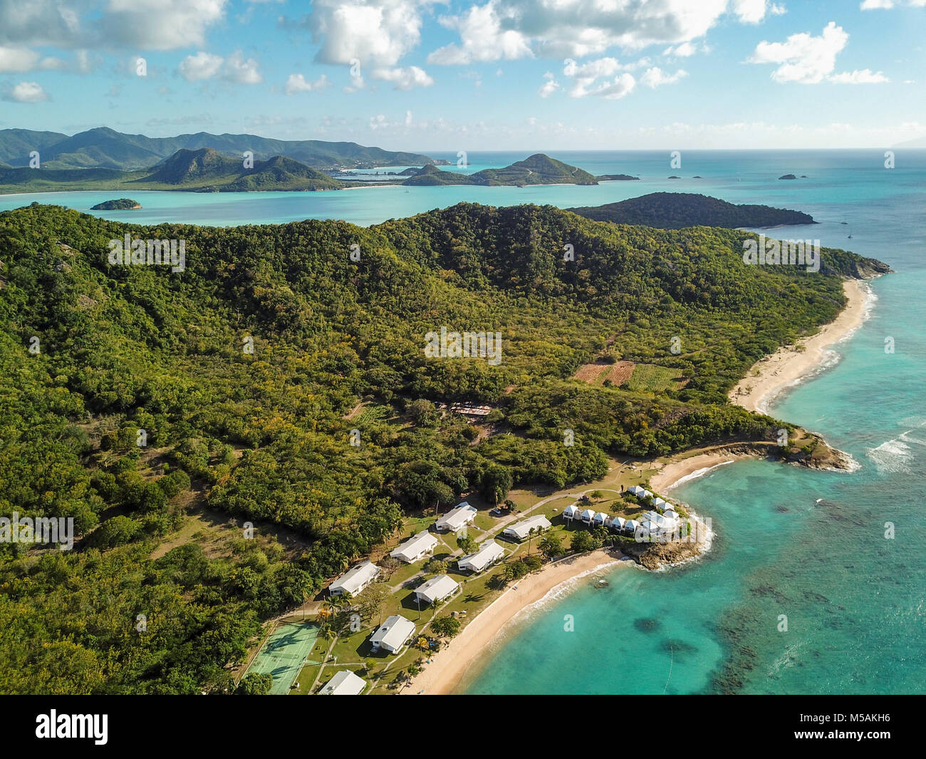 Hawksbill Beach Resort, Antigua Stockbild