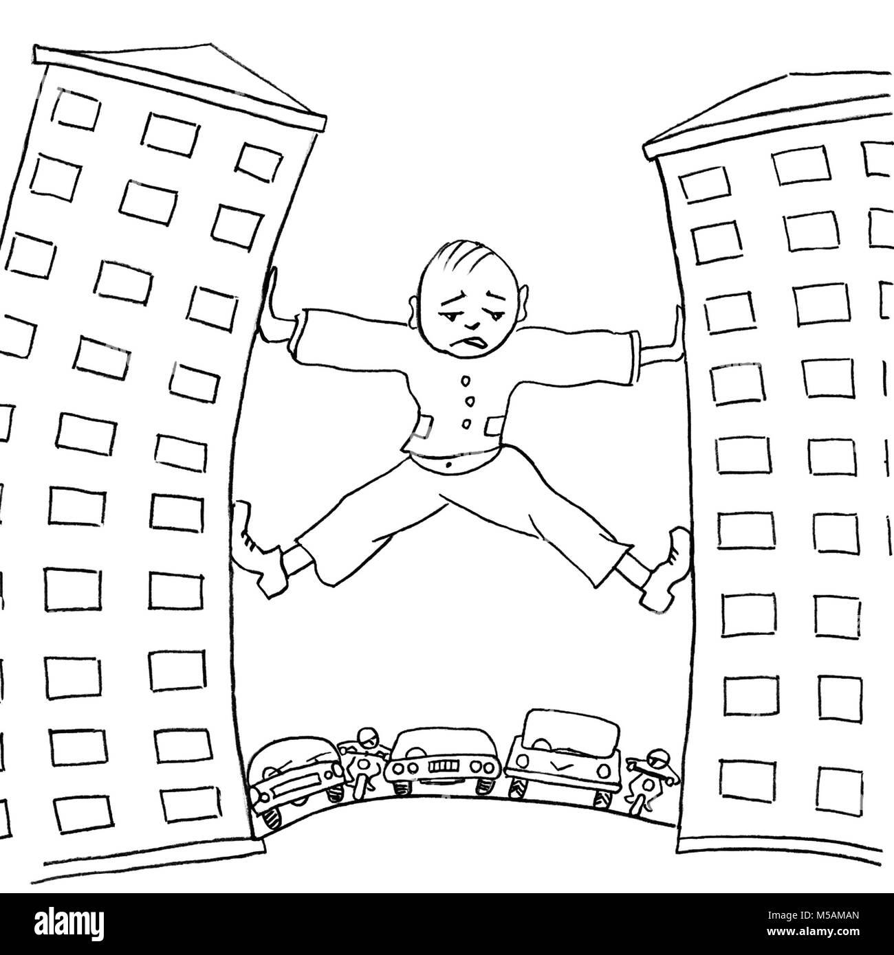 Line Drawing Simple Cartoon Stockfotos Line Drawing Simple Cartoon