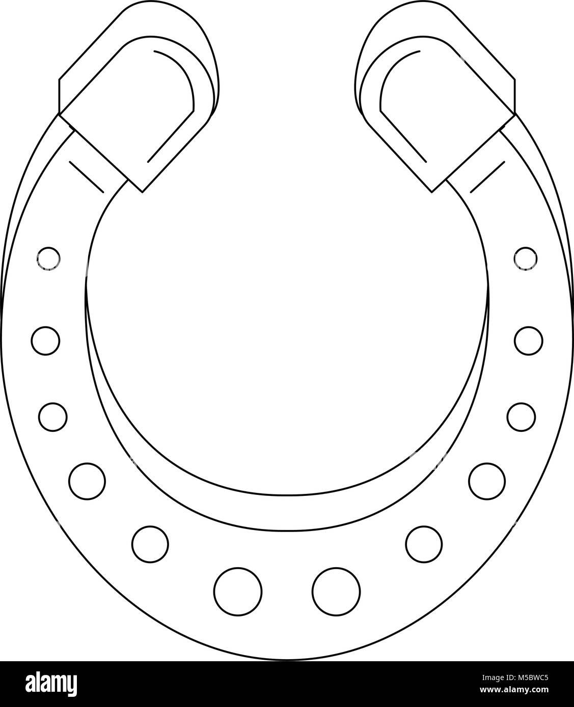 Hufeisen Glück Symbol Stockbild