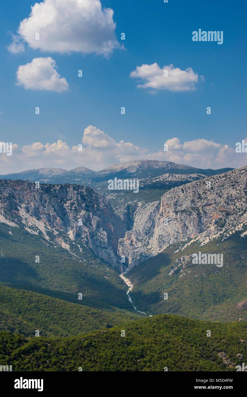 Robuste Innere des est Küste von Sardinien, Italien Stockbild