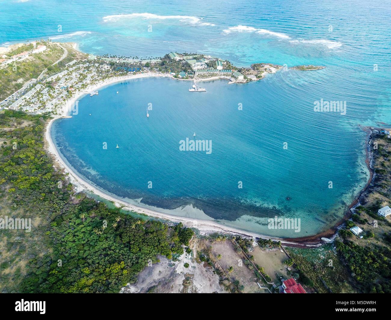 Mamora Bay, Antigua Stockbild