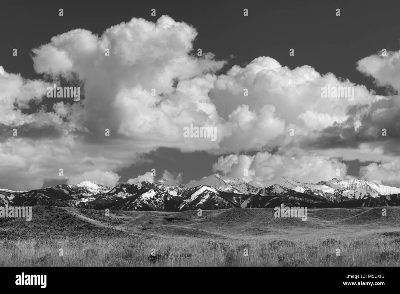 Nordamerika, USA, Rocky Mountains, Rocky Mountains, Montana, verrückt, Berge, Stockbild