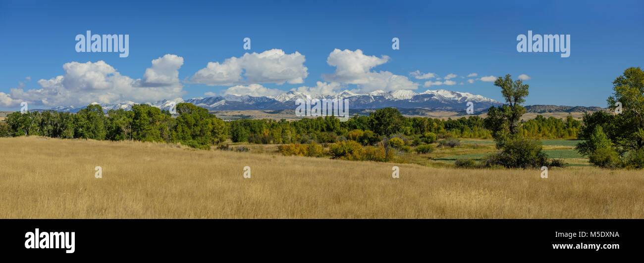 Nordamerika, USA, Rocky Mountains, Rocky Mountains, Montana, Crazy Berge Panorama Stockbild