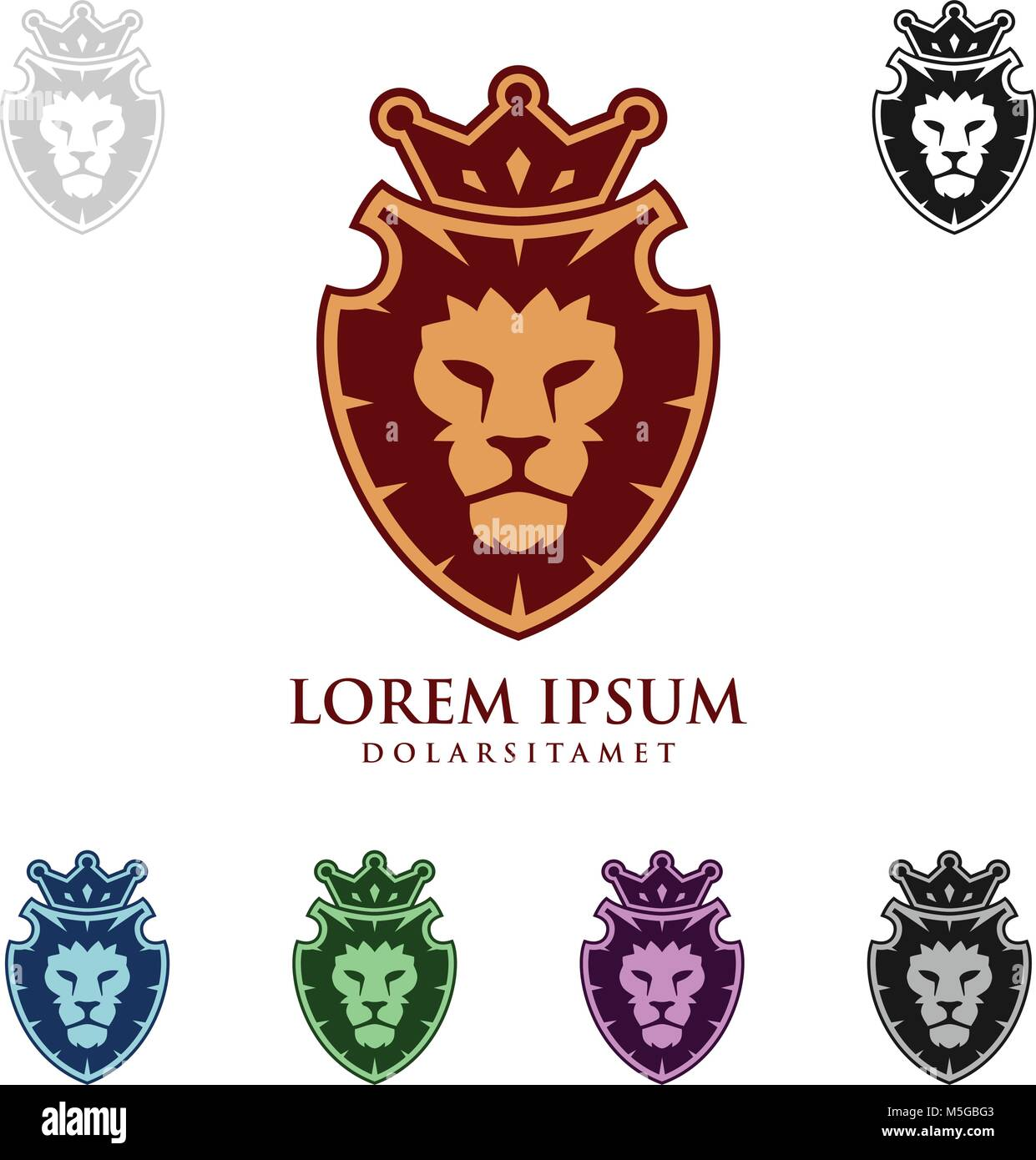 King Crown Logo Template Stockfotos & King Crown Logo Template ...