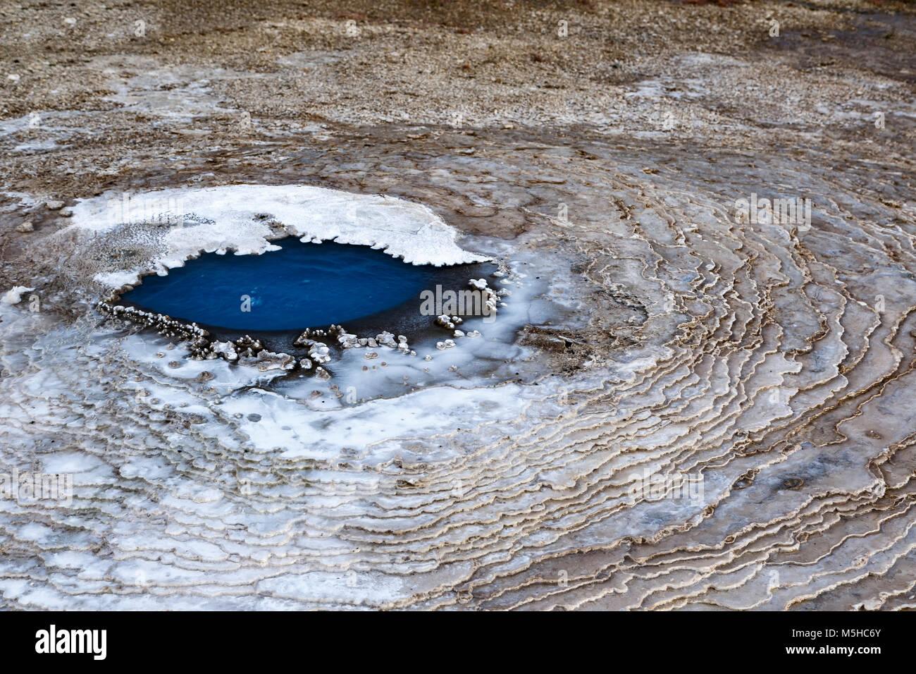 Auge der fumarole, Hveravellir, Island Stockbild