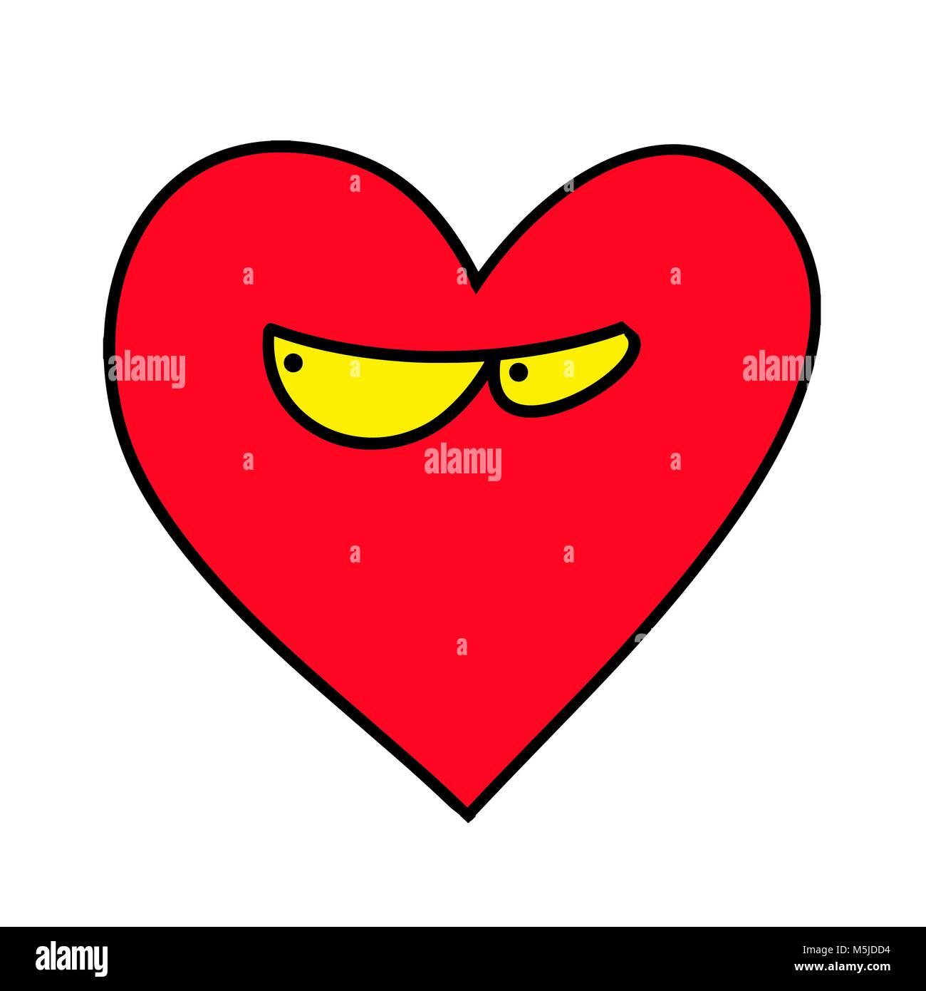 Emoji Fur Valentinstag Isolierte Vector Illustration Auf Weissem