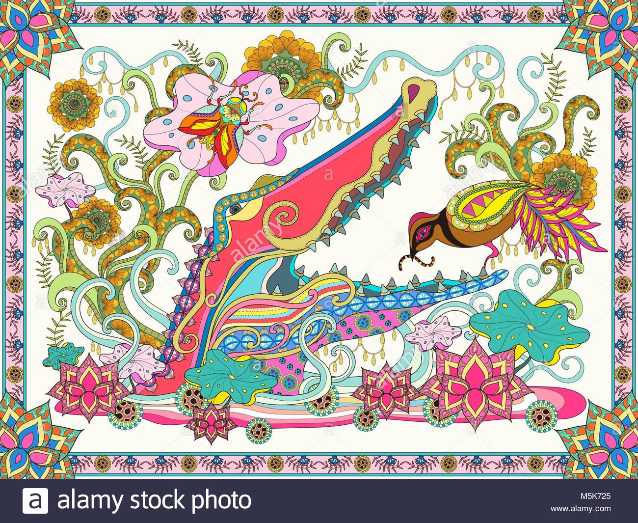 Fein Krokodil Färbung Seite Bilder - Beispielzusammenfassung Ideen ...