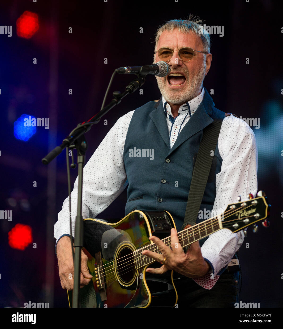 Steve Harley & Cockney Rebel Start der Sonntag am Rücklauf Festival, Scone Palace, Perth, 23 July? 2017 Stockbild
