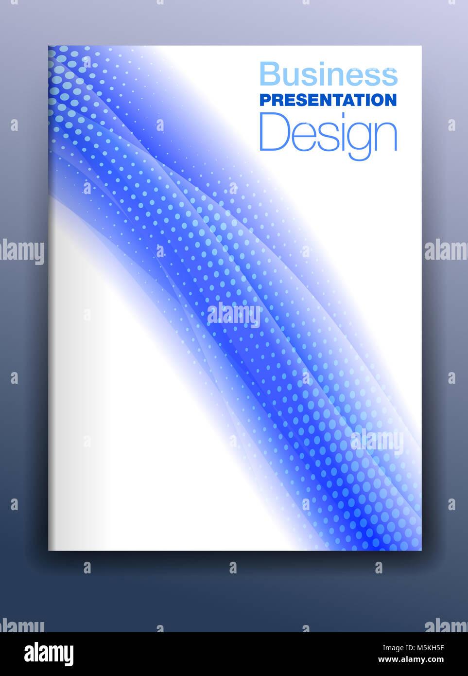 Broschüre blaues Deckblatt Vorlage Vektor Design für Business ...