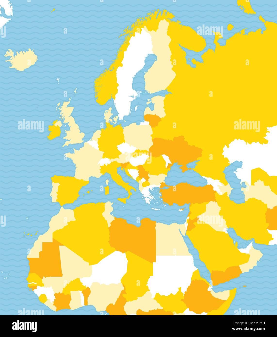 Afrika Karte Staaten.Politische Karte Von Europa Afrika Und Dem Nahen Osten Politische