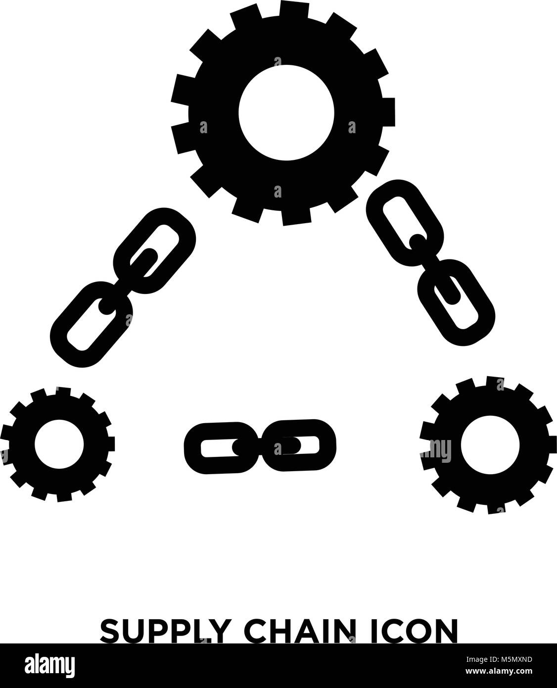 Supply Chain Symbol Vektor Abbildung Bild 175636985 Alamy