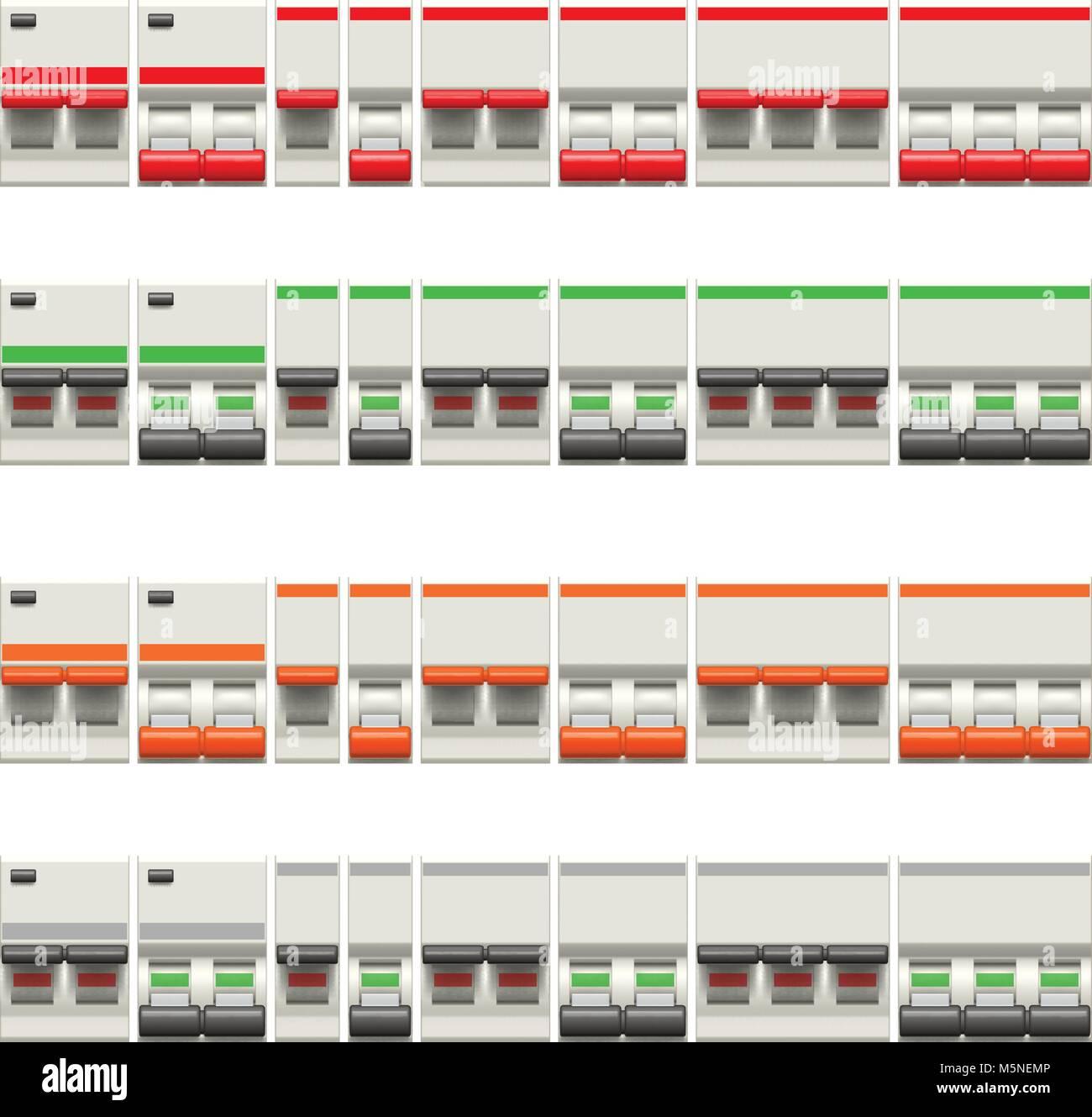 Elektrische Schalter Vektor Abbildung - Bild: 175649510 - Alamy