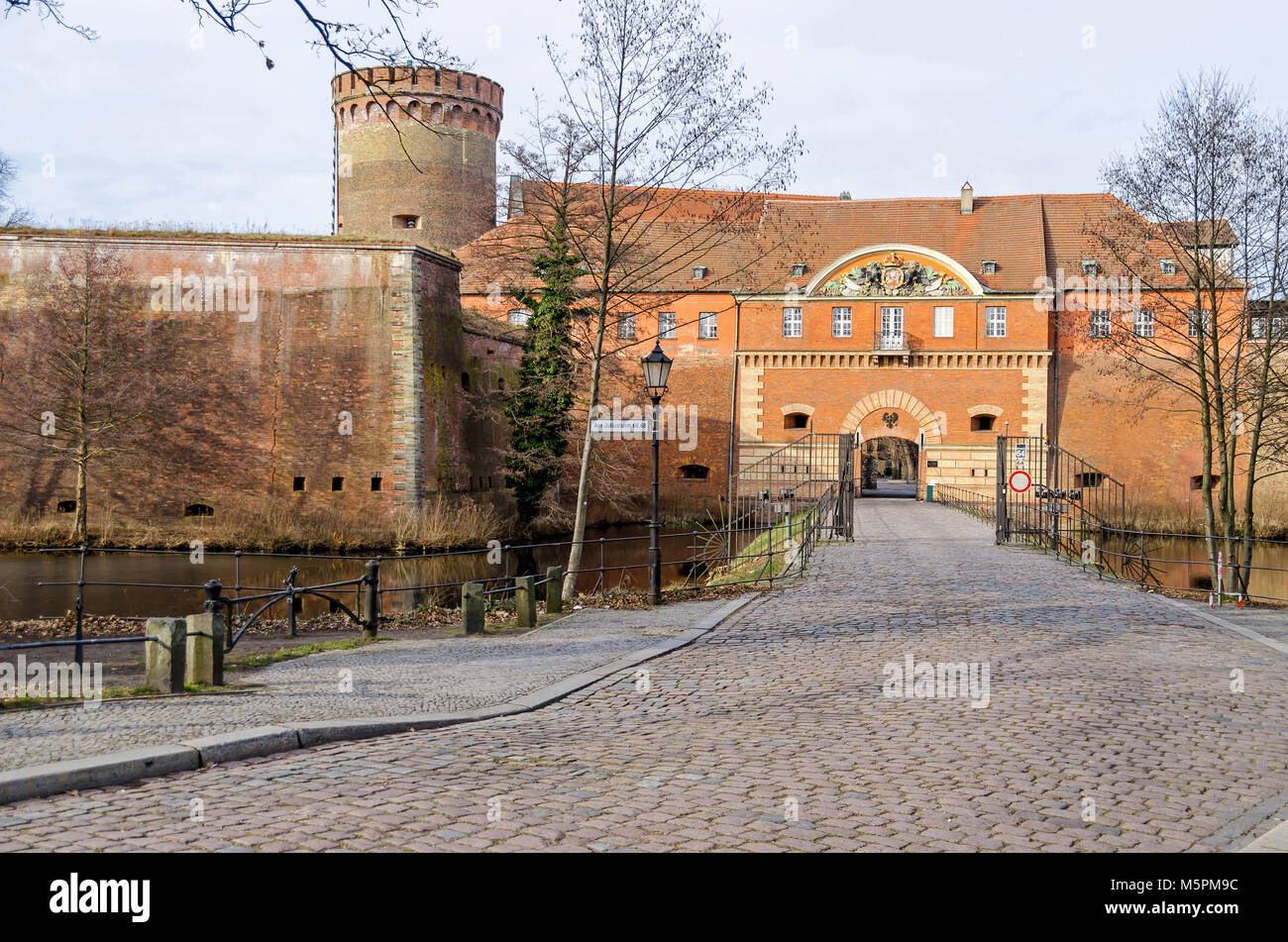 Spandauer Zitadelle, eine der am besten erhaltenen Renaissance militärischen Strukturen Europas, die heute ein Museum ist. Der Teil der Bastion König (König Bastion) mit Stockfoto