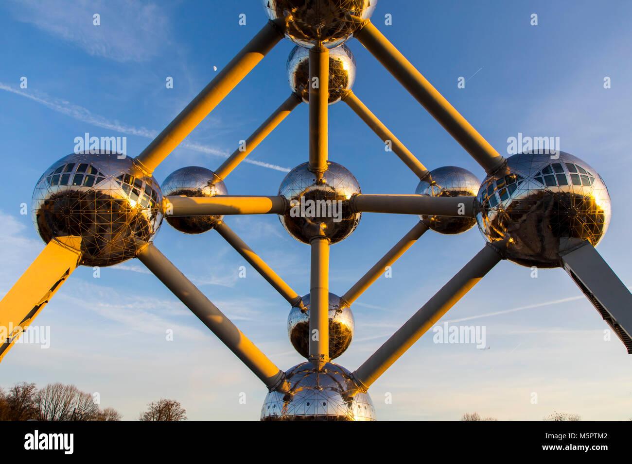 Das Atomium in Brüssel, Belgien, Stockbild
