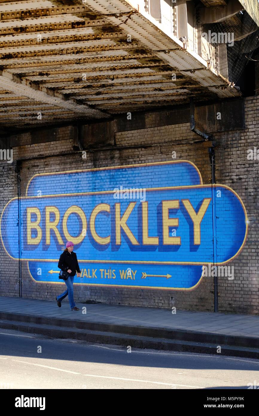 Brockley, London, Vereinigtes Königreich Stockbild