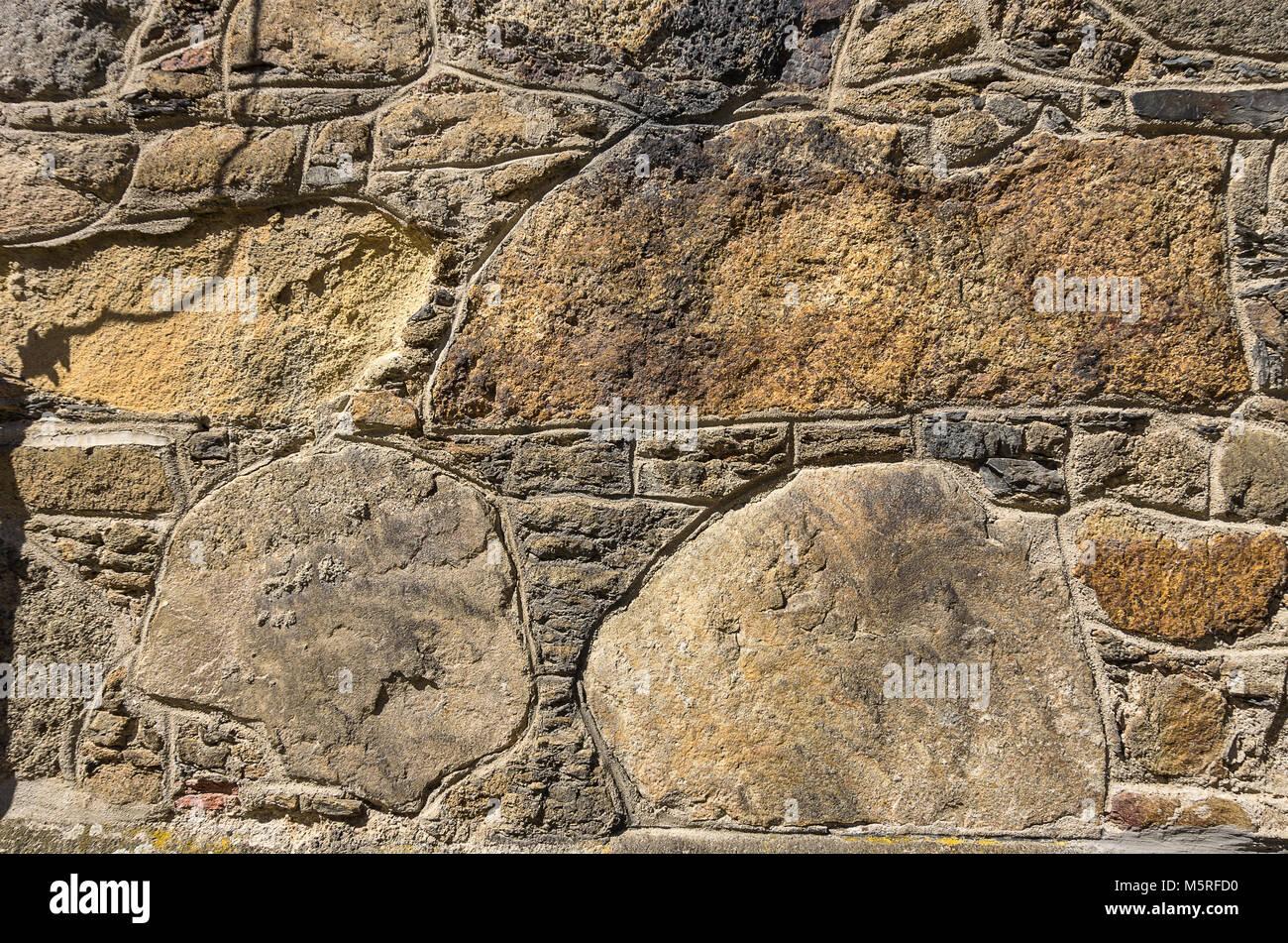 Historischer Stein an der Kirche Mariä Geburt in Klatovy, Tschechien, gut als Hintergrund Struktur geeignet. Stockbild