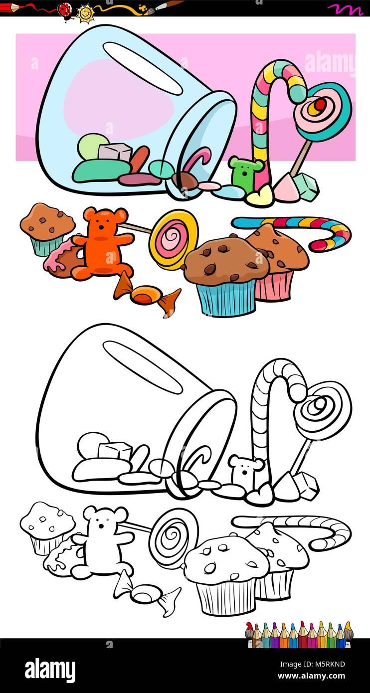 Niedlich Süße Süßigkeiten Malvorlagen Ideen - Beispiel ...