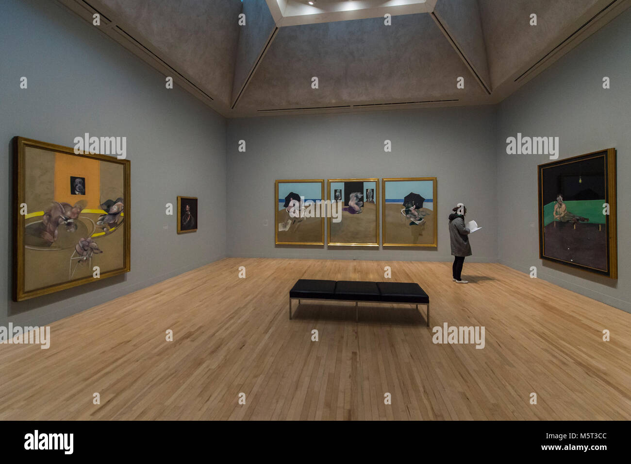 London, Großbritannien. 26. Februar, 2018. Allzu menschlichen: Speck, Freud und ein Jahrhundert der Malerei Stockbild