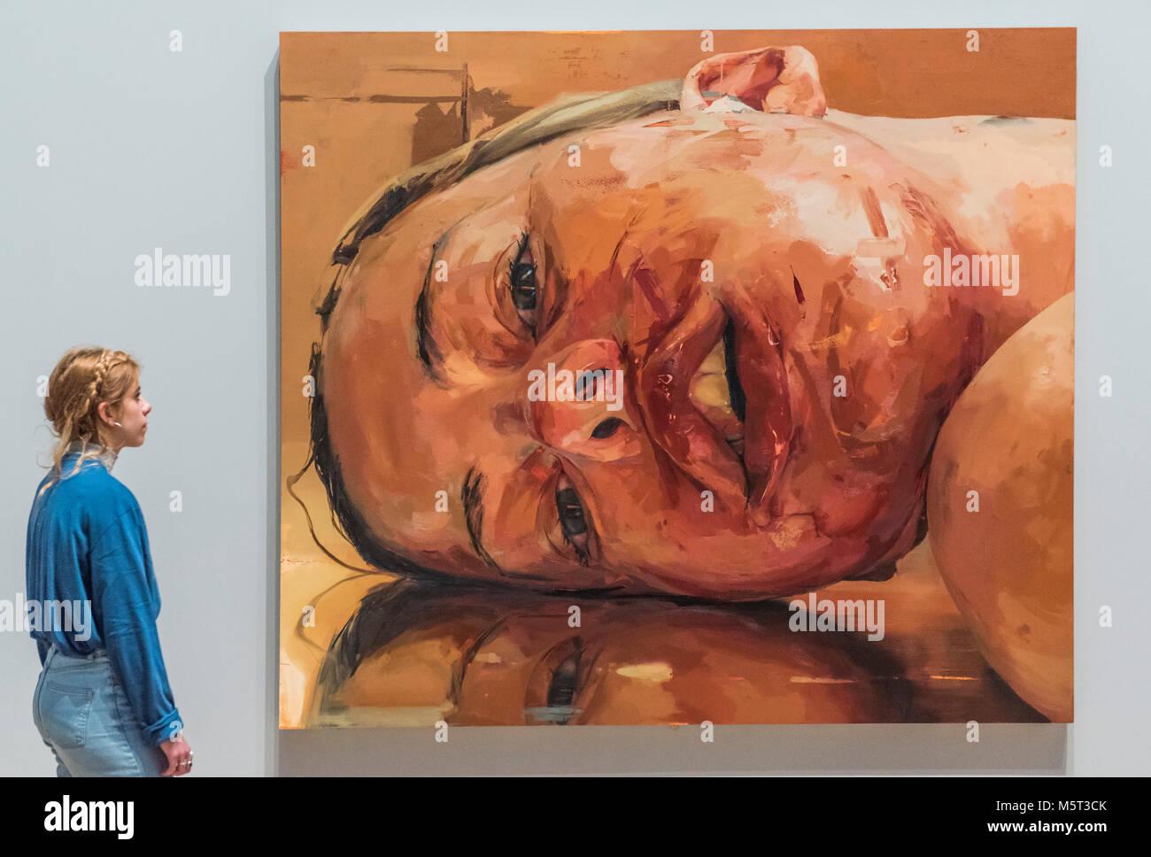 London, Großbritannien. 26. Februar, 2018. Rückwärts 2002-3 von Jenny Saville - Allzu menschlich: Stockbild
