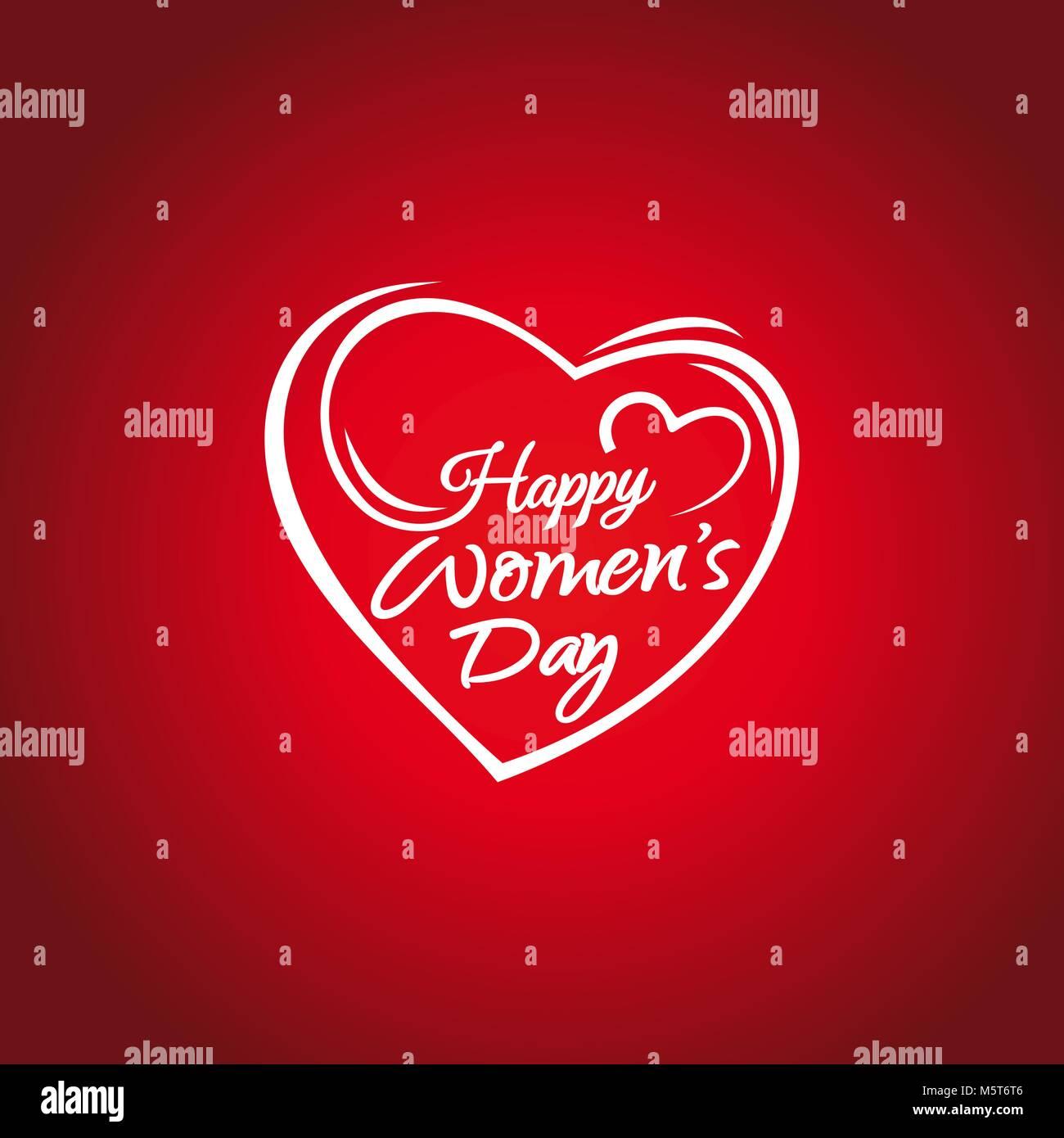 Happy Tag der Frauen. 8. märz Grußkarte. Hand-Schriftzug im ...