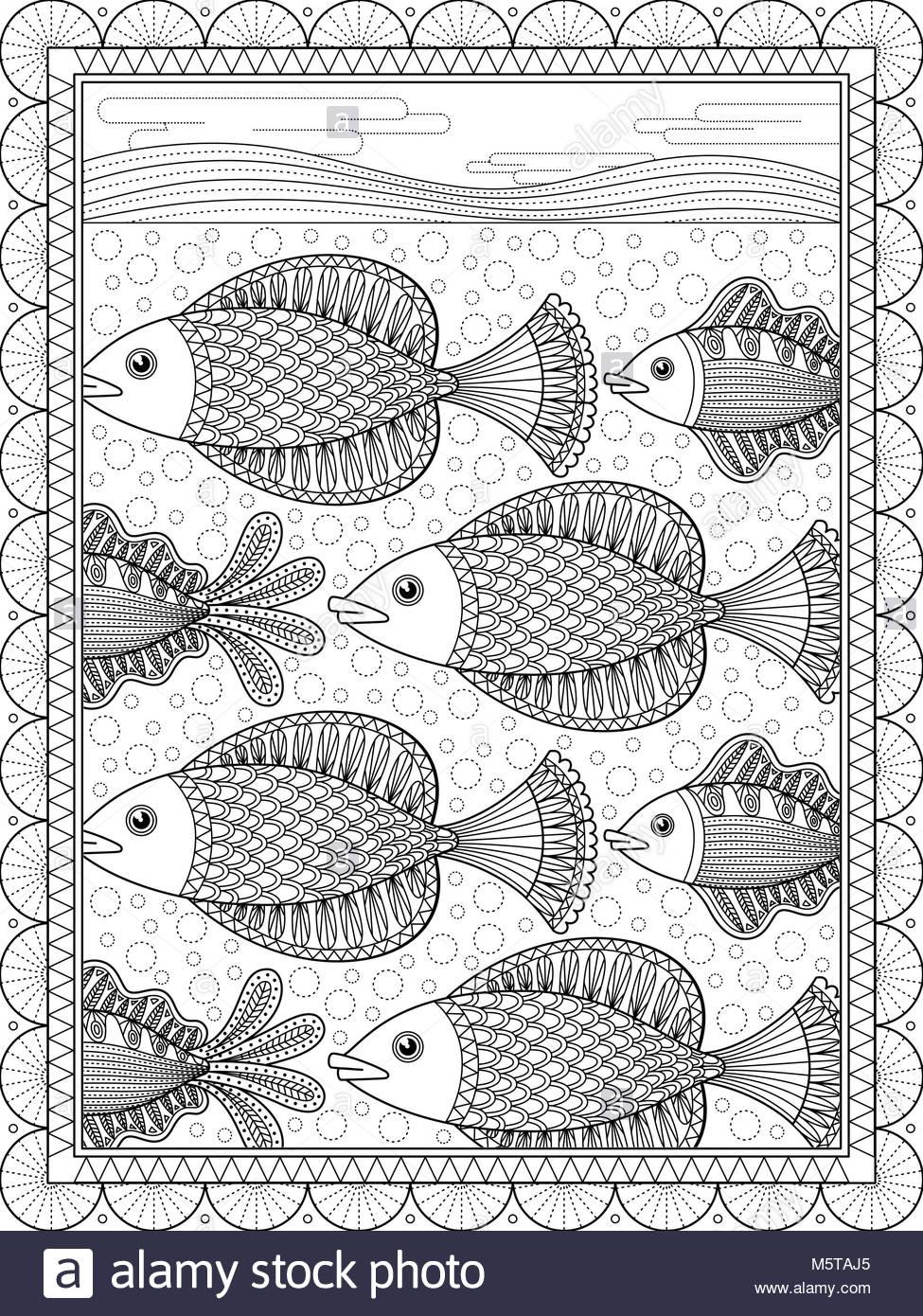 Schön Fisch Färbung Seite Galerie - Beispiel Wiederaufnahme Vorlagen ...
