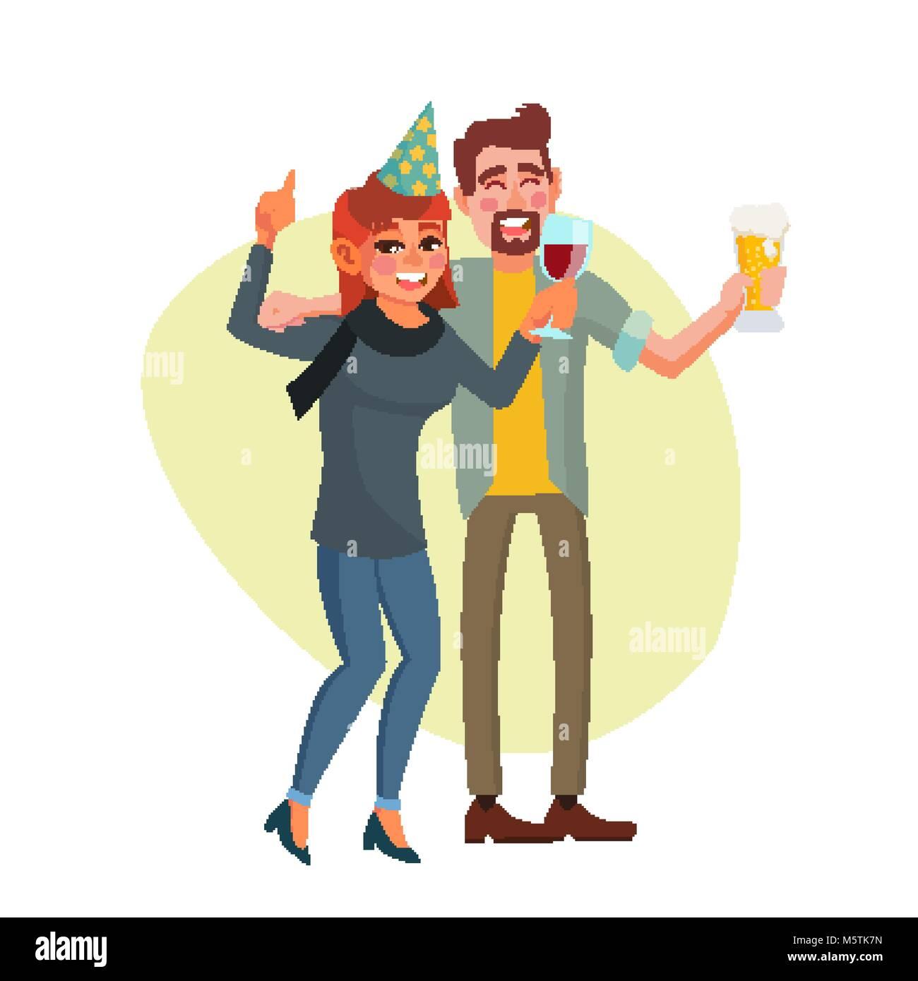 cartoon drunk man stockfotos cartoon drunk man bilder. Black Bedroom Furniture Sets. Home Design Ideas